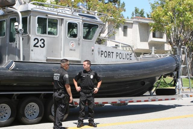 Port police san pedro block by block for La port police